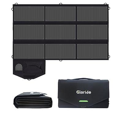 GIARIDE 12V 18V 60W Cargador Panel Solar Sunpower Ordenador Portátil Placa Solar Plegable Impermeable (18V
