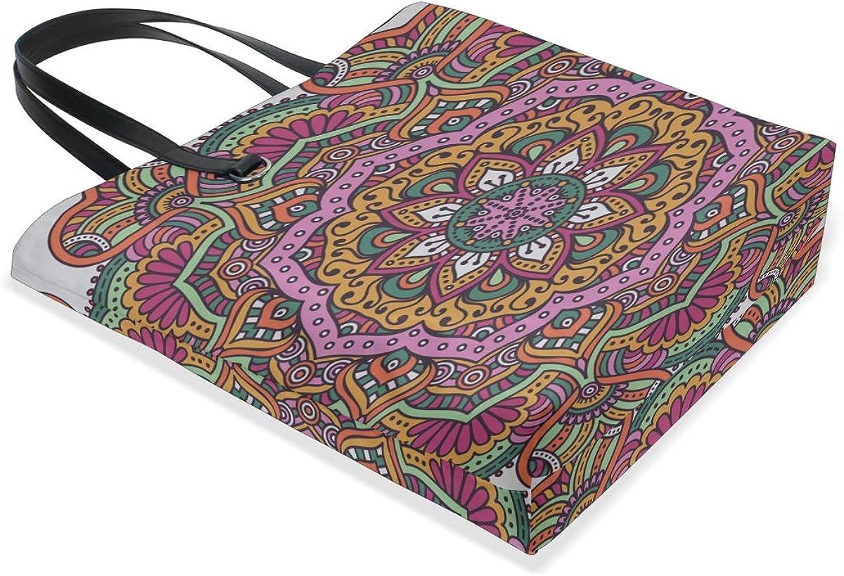 Work Shoulder Bag Handle Satchel Large Tote Bags Purse Messenger Bags Xl Tote Bag For Women Mandala Vintage Decorative Elements Printing Diy Tote Bag
