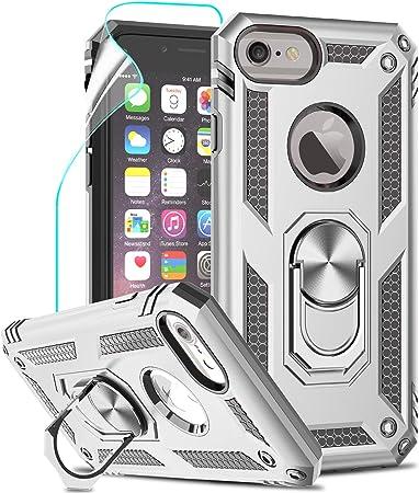LeYi per Cover iPhone SE 2020, Custodia iPhone 6 / 6S / 7/8 con Pellicola, 360°Regolabile Anello Magnetica Supporto Ring Armor Bumper TPU Case ...
