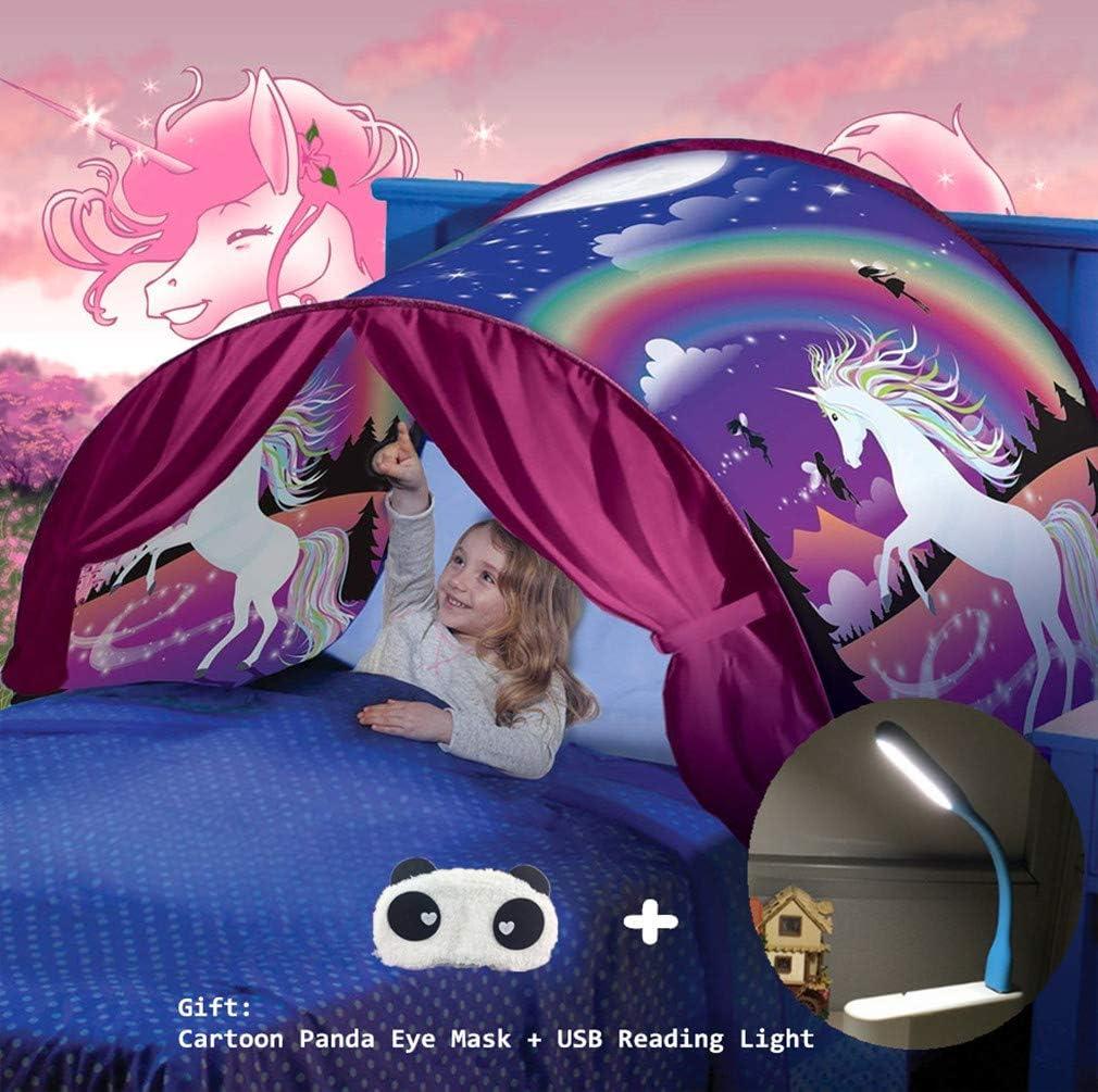 Tiendas de ensueño, Carpa de Ensueño Wizard World, fantasía interior de la cama redes de regalo, Children Play Cama Tienda de Campaña (Fantasía unicornio): Amazon.es: Deportes y aire libre