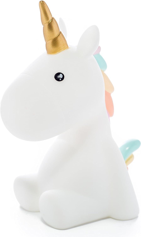 Unicorn Unisex Nachtlicht für Kinder Einhorn geformte Lampe,Kinderzimmer Licht