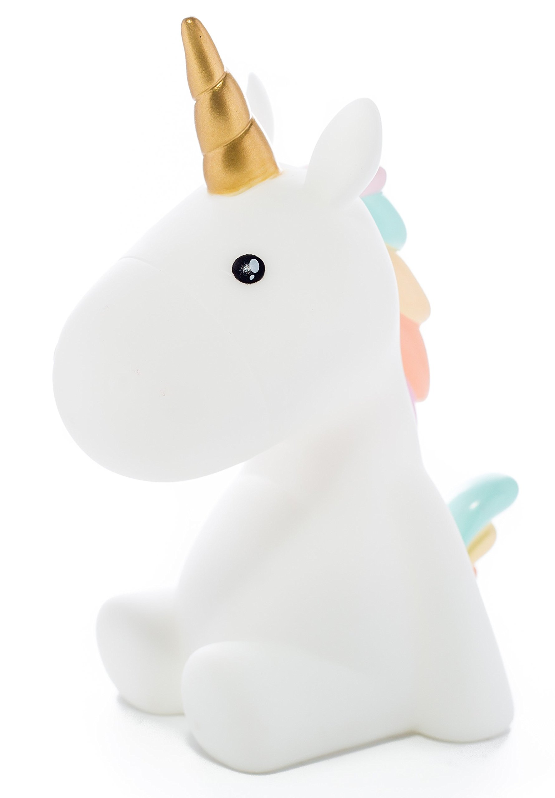 RMEX Unicorn Nightlight Warm White LED 15min Timer - Soft Rainbow Color