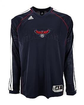 Adidas NBA Atlanta Hawks Pista Shooting Jersey, Hombre, Azul