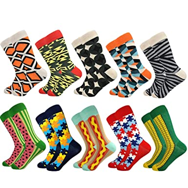 Funny Socks Sokken Calcetines Hombre NEW Mens Happy Combed Cotton Socks