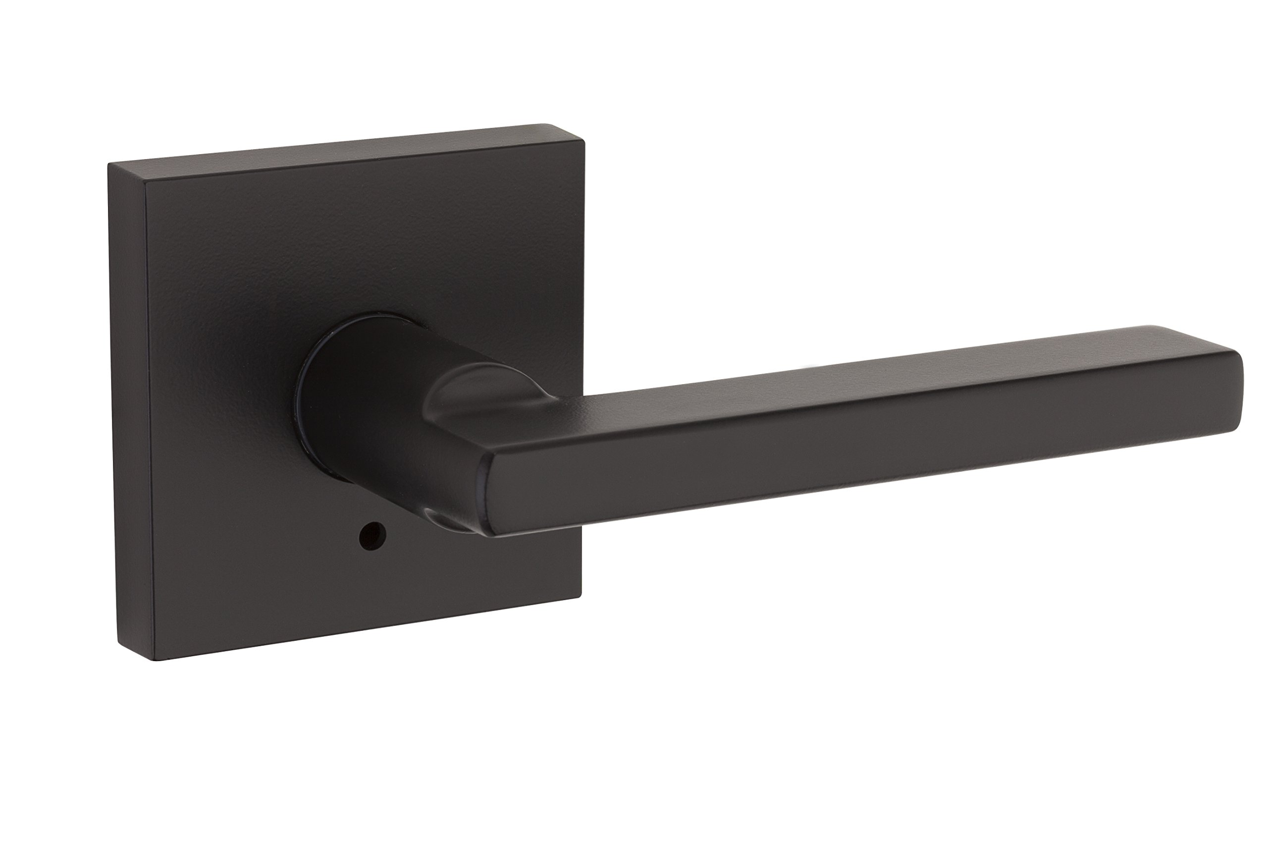 Kwikset 91550-029 Halifax Slim Square Bed/Bath Lever in Iron Black