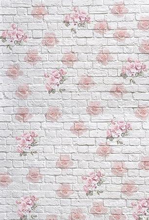 Amazon.com : Leowefowa 3X5FT Floral Backdrop Vinyl Photography ...