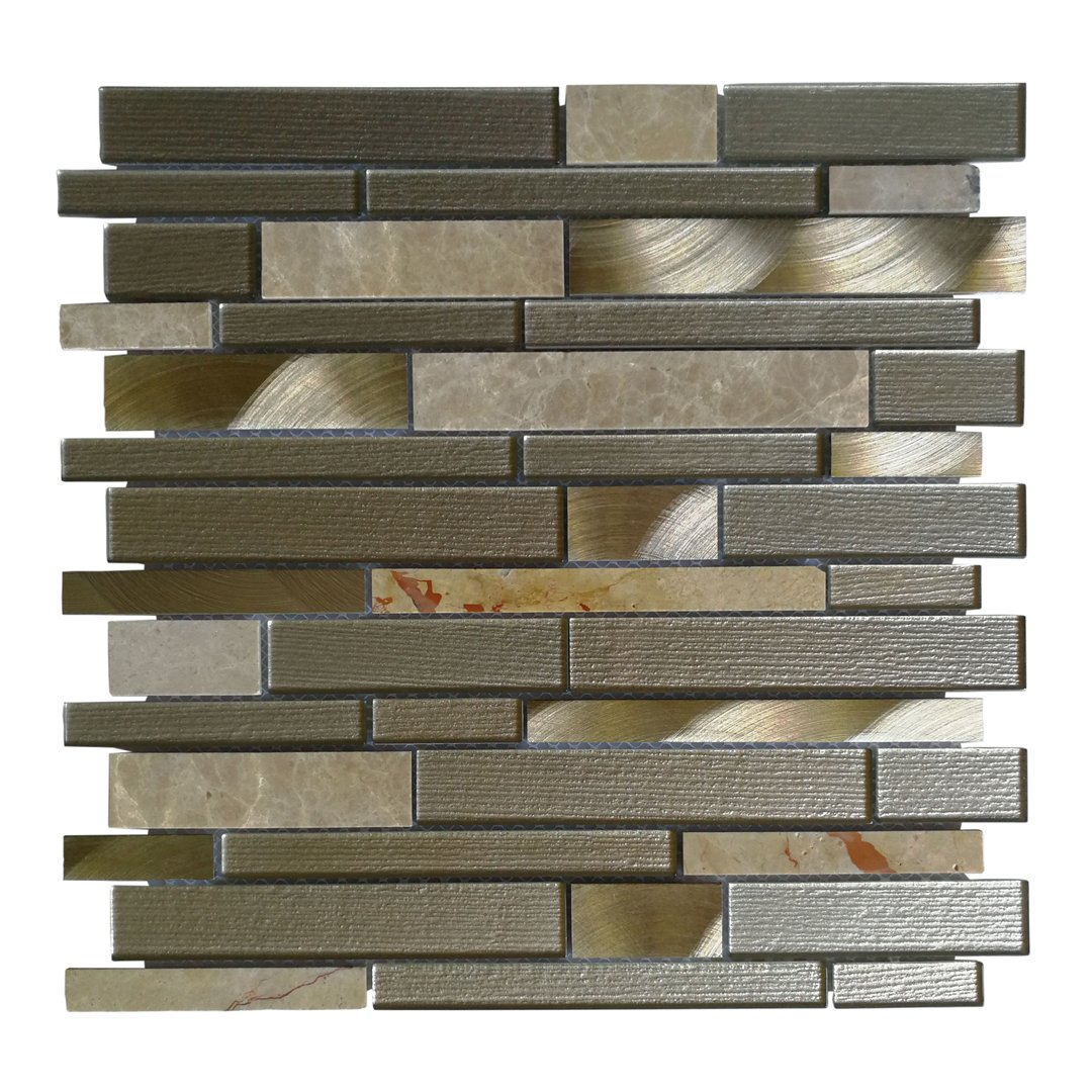 Art3d Decorative Glass Wall Tile for Kitchen Backsplash/Bathroom Backsplash (10 Pack)