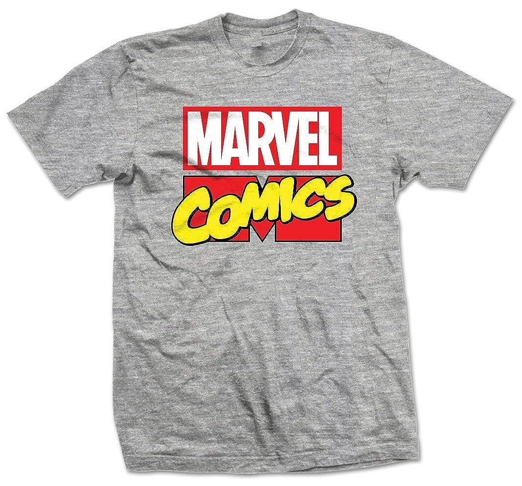 TALLA S. Marvel Logo Camiseta para Hombre