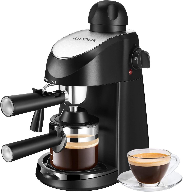 Aicook - Cafetera de 8 bares, máquina de café americana, mini ...