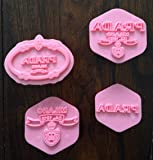 DESIGNER FASHION HANDBAG LOGO COOKIE CUTTER MOLD FOR CANDY CHOCOLATE FONDANT by EMES