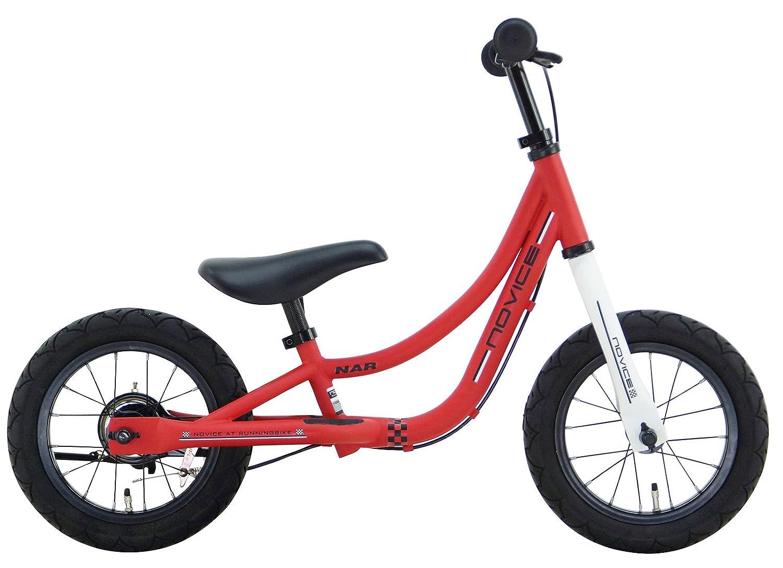 SAKAI CYCLE(サカイサイクル) NOVICE 12インチ ブレーキスタンド付き エアタイヤ仕様 キックバイク バランスバイク NOVICE12G-FR ツヤケシレッド B078HHDV6Y