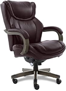 LaZBoyBig & Tall Executive Chair with Coffee Bonded Leather, Coffee Brown