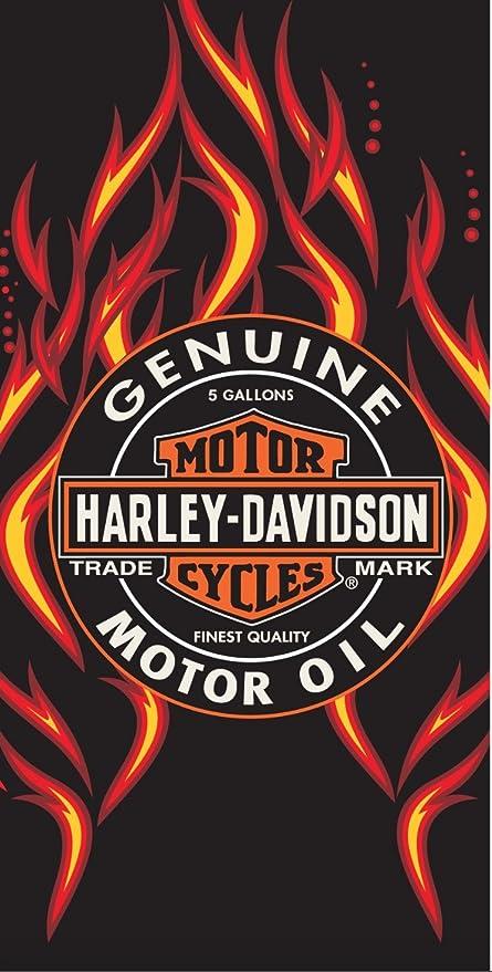 Harley-Davidson Logo fuego aceite toalla de playa manta, 30 en. X 60