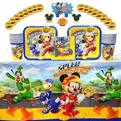 Amazon.com: Disney Mickey Roadster Party Supplies Pack para ...