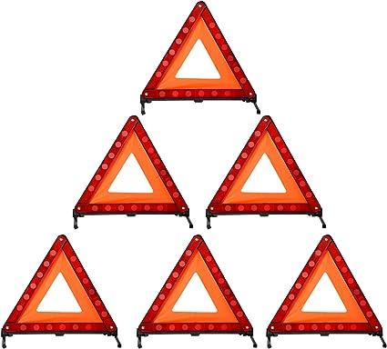3 paquete, rojo equipo de tri/ángulo de seguridad con reflector de tri/ángulo MYSBIKER Tri/ángulo de advertencia triple Advertencia de emergencia 3 paquete