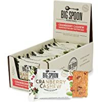 Big Spoon Roasters Cranberry Cashew Nut Butter Bars - High Protein Bars with Non-GMO Pea Protein - Energy Bars with…
