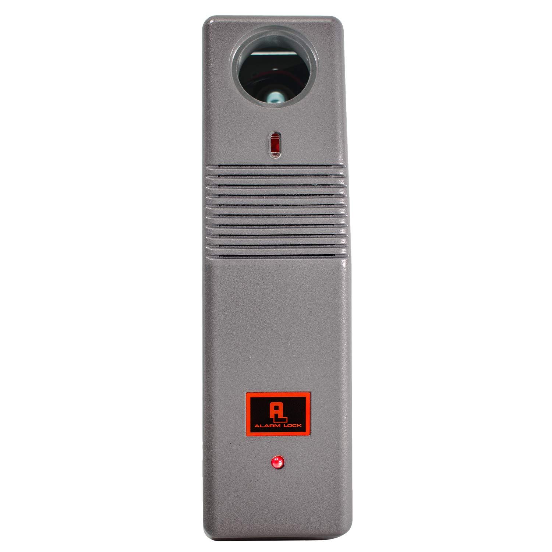 Image of Home Improvements Alarm Lock PG21MS Pilfergard 95 Decibel Dual Piezo Siren Surface Mount Door Alarm, 9V Battery, Metallic Silver Finish