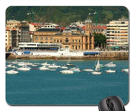 Amazon.com: Mouse Pads - San Sebastian Spain Port Beach ...