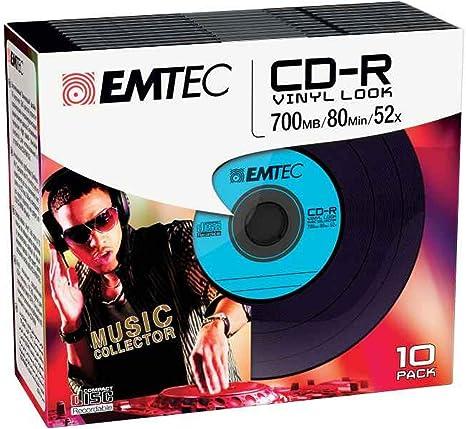 Emtec CD-R Vinyl Look CD-R 700MB 10pieza(s) - CD-RW vírgenes (CD-R ...