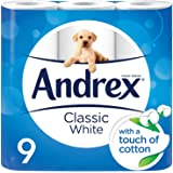 Andrex Classic White Toilet Roll Tissue Paper - 16 Rolls