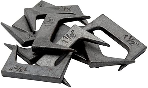 """1-1//2/"""" Pinch Dogs Pack of 10 Each w// Square Back /& Tapered Legs Taytools 500031"""