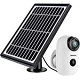 Solar Powered Wireless Home Security System, 1080P Outdoor WiFi Camera Surveillance Camera, Night Vision, Motion…