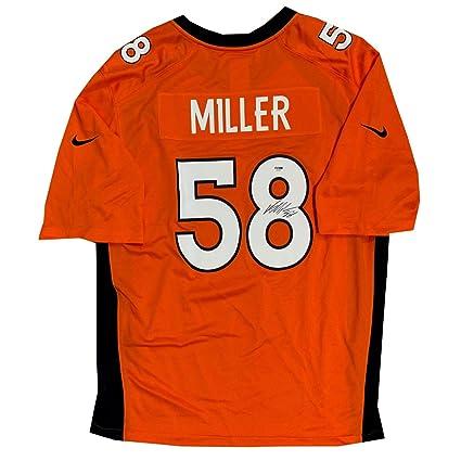 quality design 8cf09 1c7eb Von Miller Autographed Denver Broncos Orange Nike Game ...