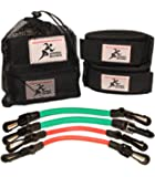 Speed Bands, set of elastics to train resistance, for power and agility in running, strength and muscle strength, soccer, athletics and all sports ... (Speed Bands, small)