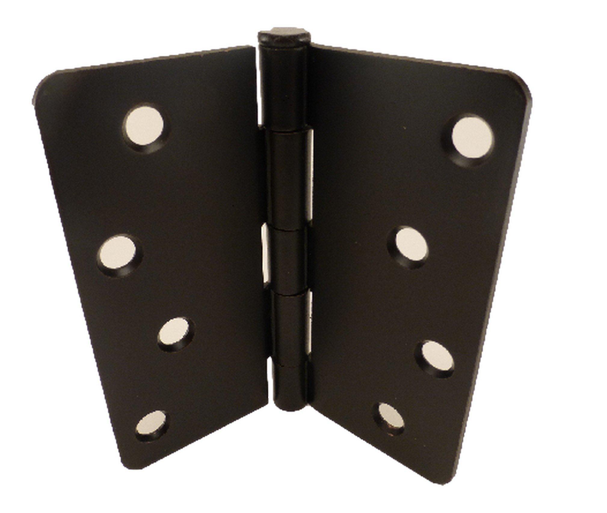 East West Consolidated 61979 4'' 1/4'' Radius Corner Orb Oil Rubbed Bronze Steel Door Hinge (Pack of 1)