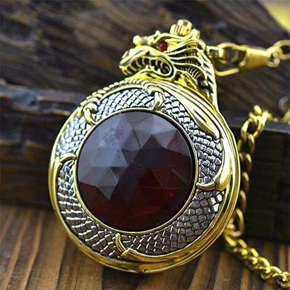 Amazon.com: ZHEBAO Retro Pocket Watch Gold Faucet Quartz Boy Girl Necklace Nostalgic Decoration: Sports & Outdoors