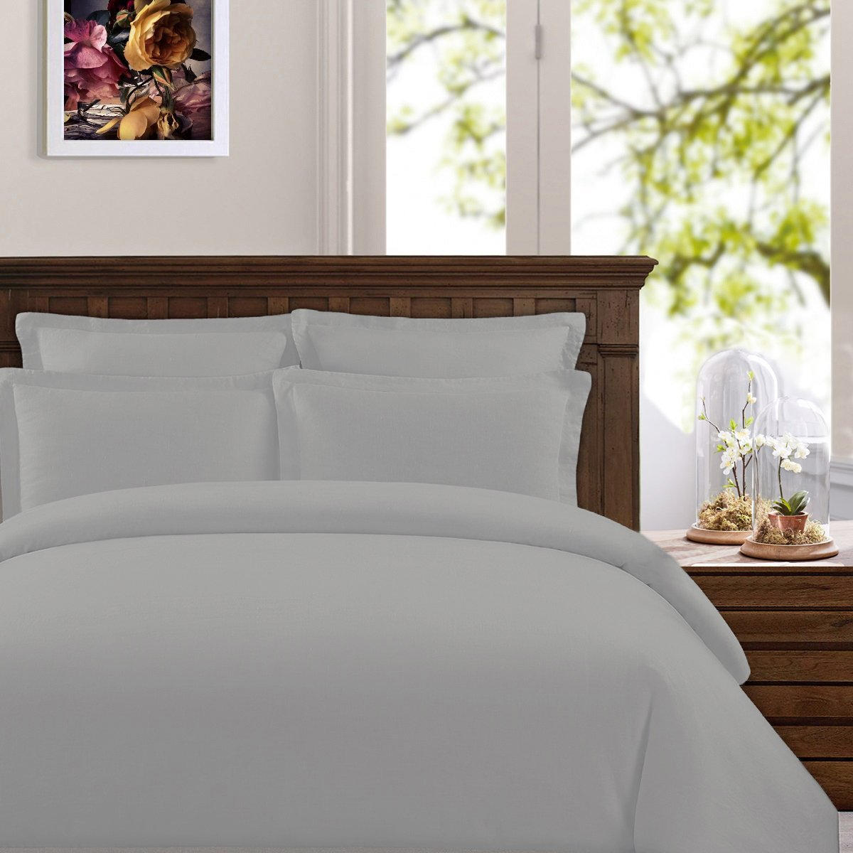 Peru Pima - 285 Thread Count - Percale - 100% Peruvian Pima Cotton - Duvet Cover - Twin/Twin XL, Slate