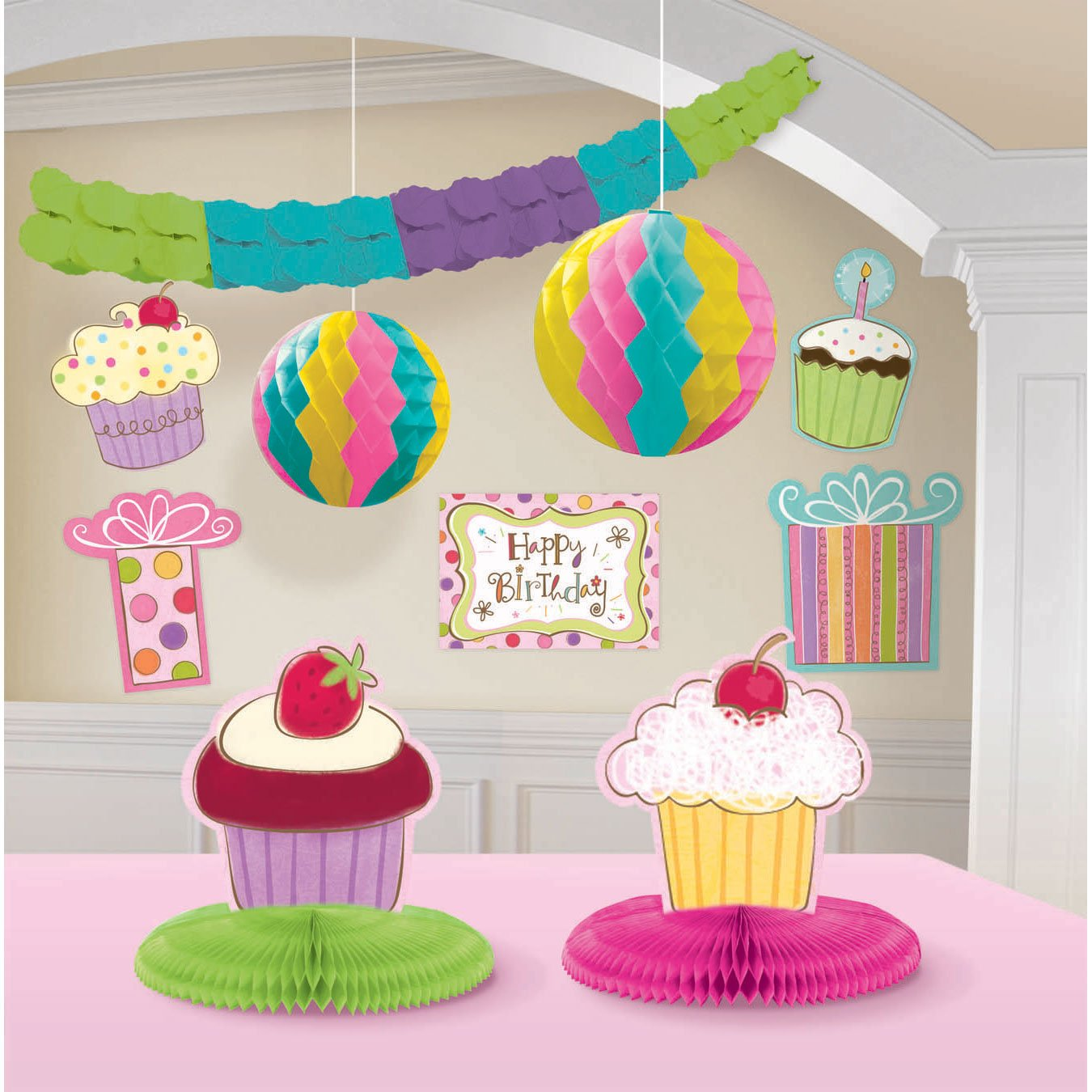 Amscan International Sweet Stuff Party Room Decorating Kit, Pack of 10 249672