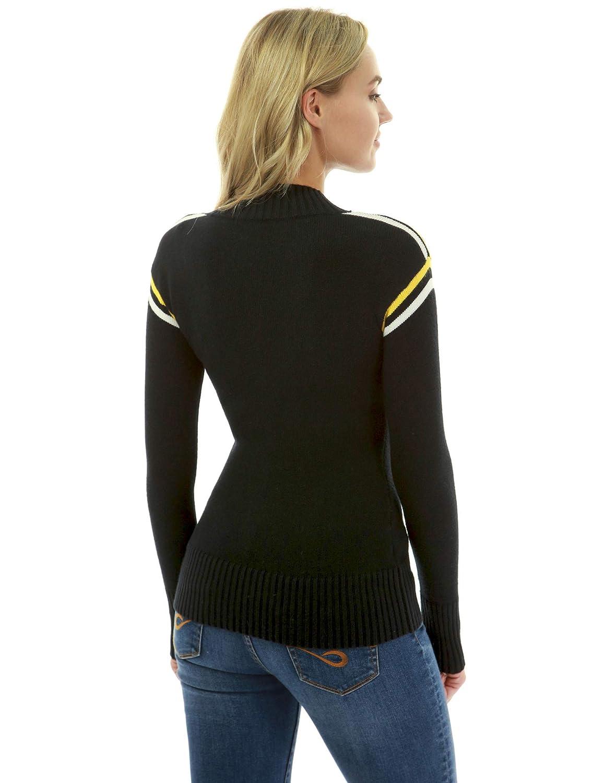 PattyBoutik Women Trim Mock Neck Long Sleeve Jumper