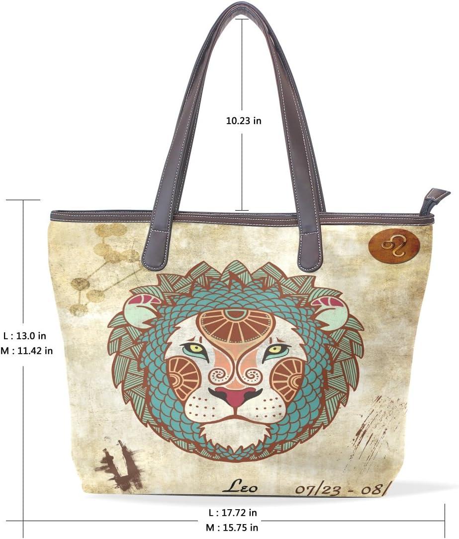 Constellation Zodiac Sign Leo Womens Fashion Large Tote Ladies Handbag Shoulder Bag