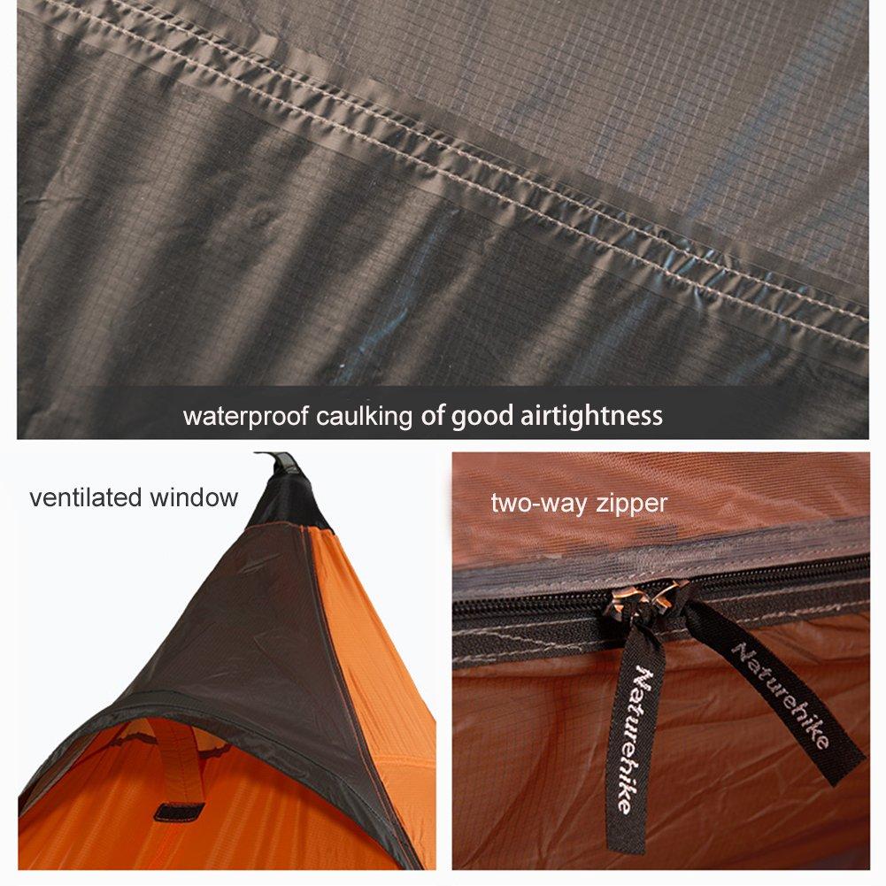 Naturehike Tienda de campaña ultraligera 3temporada al aire libre para 1 persona, para campamento, senderismo, escalada (tent set): Amazon.es: Deportes y ...