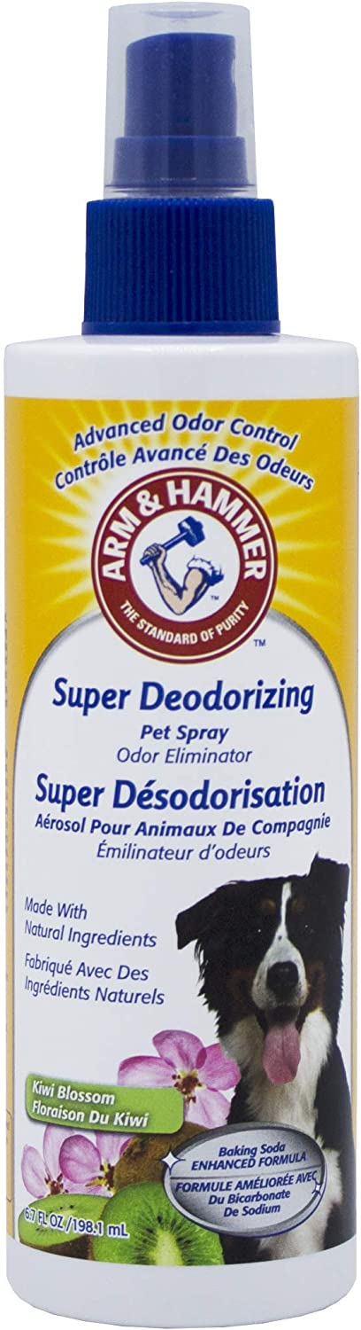 Arm & Hammer Super Deodorizing Spray for Dogs | Best Odor Eliminating Spray for All Dogs & Puppies, Kiwi Blossom Scent, 6.7 oz : Industrial & Scientific