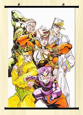 Amazon.com: Home Decor Anime JoJo\'s Bizarre Adventure Wall Scroll ...