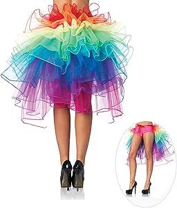 Pixnor Falda Tutu Multicolor Falda de cola de tul Arco iris ...