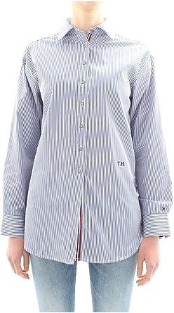 TOMMY HILFIGER WW0WW25267 Camisas Mujer 48: Amazon.es: Ropa y ...