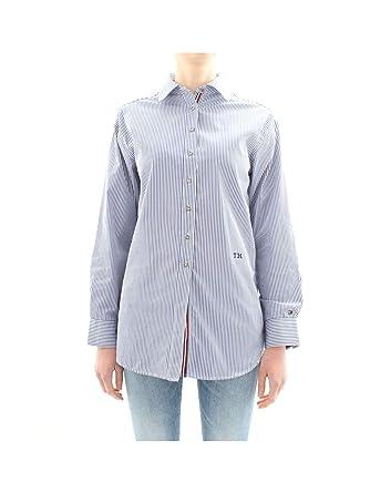 8543ad1f Tommy Hilfiger Women's Essential Oversized Shirt S Ithaca STP/Deep  Ultramarine