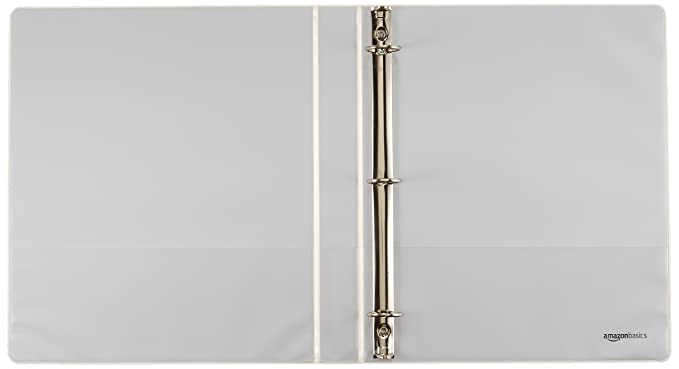 Amazonbasics 3 ring binder 1 inch 4 pack white : amazon.ca