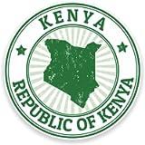 2 x 10cm/100mm Kenya Vinyl Sticker Decal Laptop Travel Luggage Car iPad Sign Fun #9213