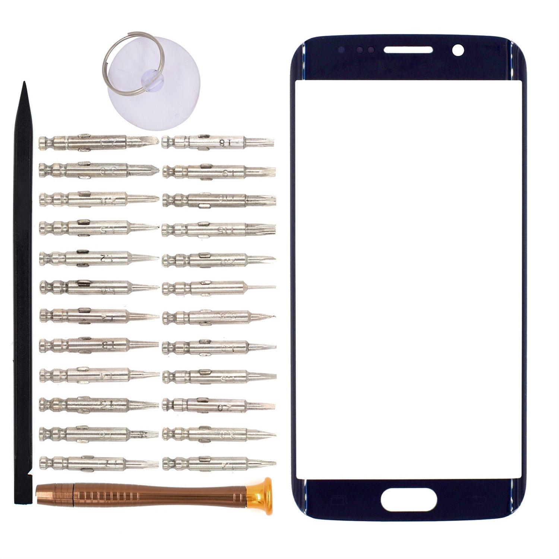 Vidrio Frente para Samsung Galaxy S6 Edge azul [GOODYITOU]