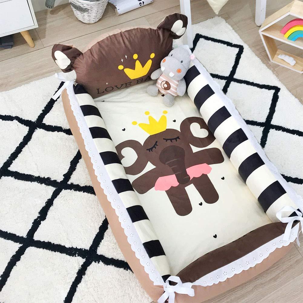 D1 88505cm Baby Travel Bed Cotton Portable Folding Detachable Wash 2 3 Sets,E2,88  50  5cm