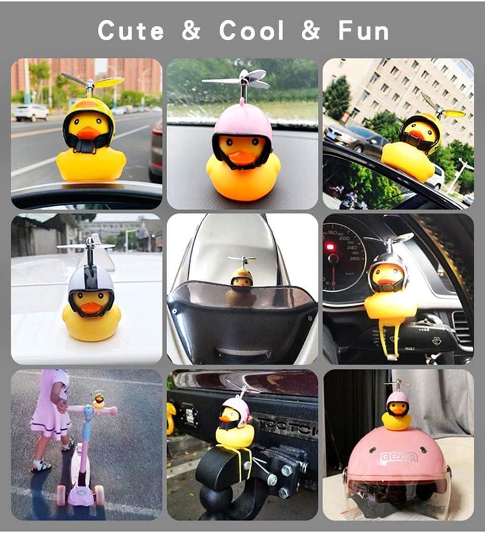 JEYODA Car Duck with Helmet Broken Wind Small Yellow Duck Road Bike Motor Helmet Riding Cycling Accessories Pink 2