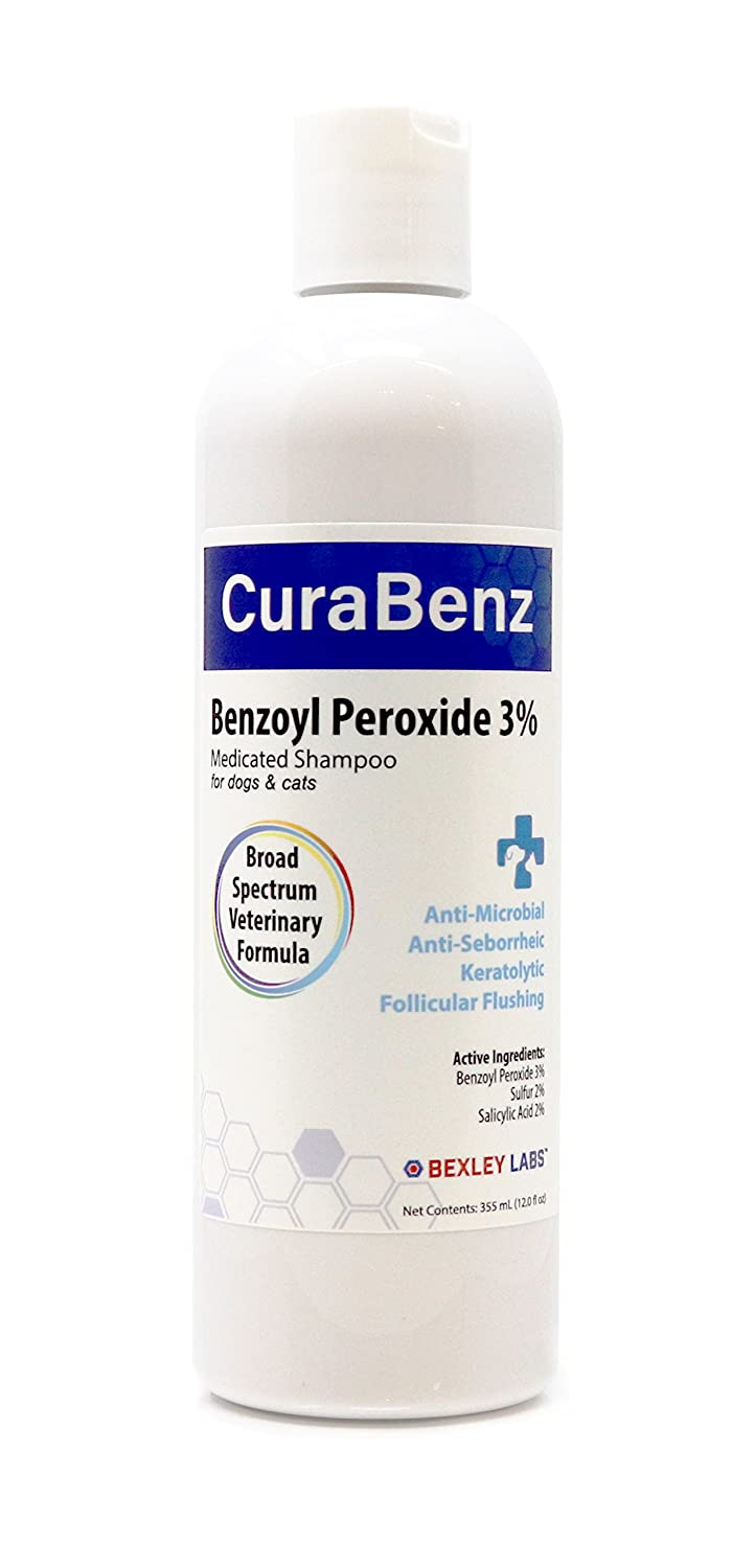 #1 Benzoyl Peroxide Shampoo, Effective for Mange, Demodex, Dandruff, Seborrhea, Pyoderma, Mites & Acne, Penetrates Deep Removing Excess Oil & Debris, Broad Spectrum Formula, Satisfaction Guarantee
