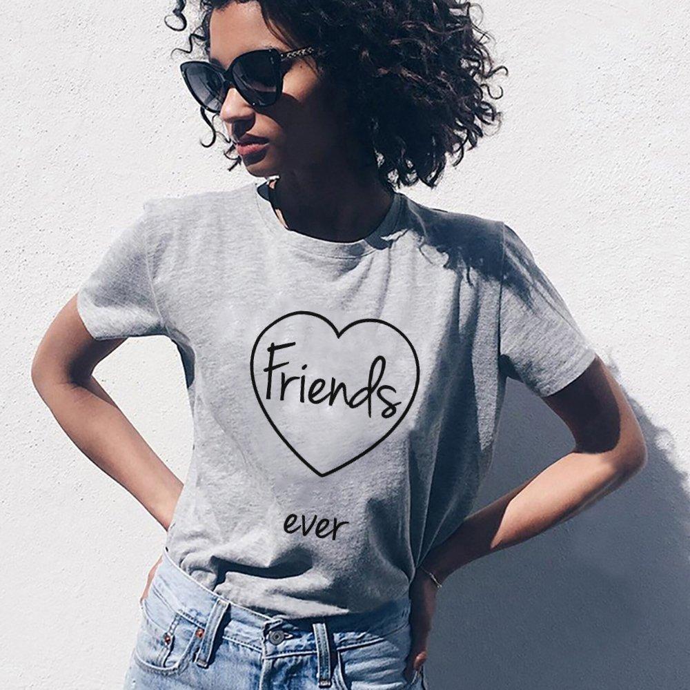 Best Friends T-Shirts für Zwei Damen 2 Stücke Beste Freundin mit BFF  Freunde Shirt a9efab4c3a