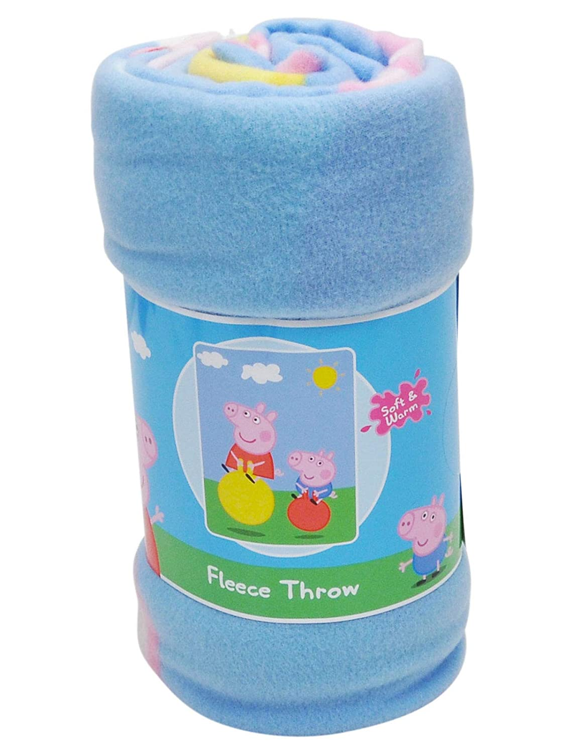 Northwest The Company Peppa Pig Fleece Throw Blanket, 46 x 60, Multicolor 46 x 60