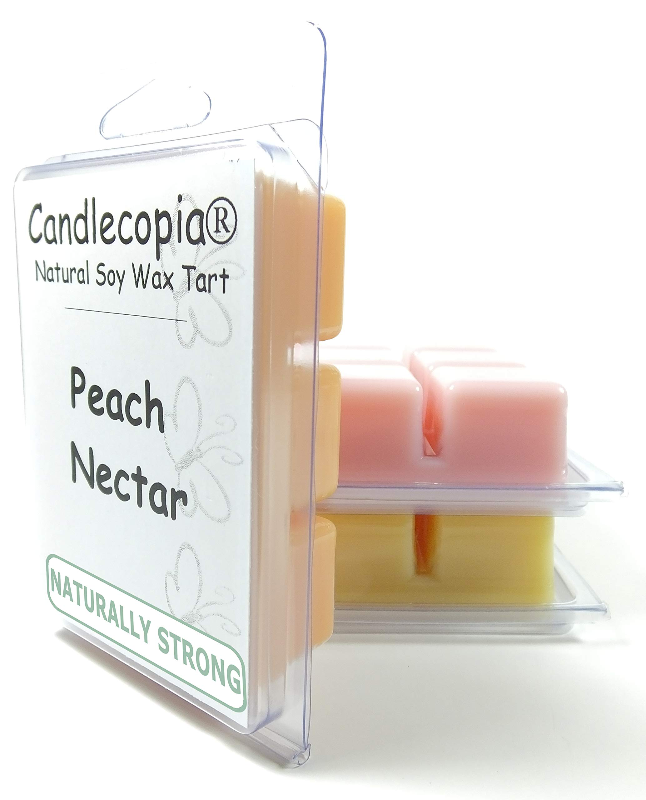 Candlecopia Orange Blossom, Japanese Cherry Blossom and Peach Nectar Strongly Scented Hand Poured Vegan Wax Melts, 18 Scented Wax Cubes, 9.6 Ounces in 3 x 6-Packs