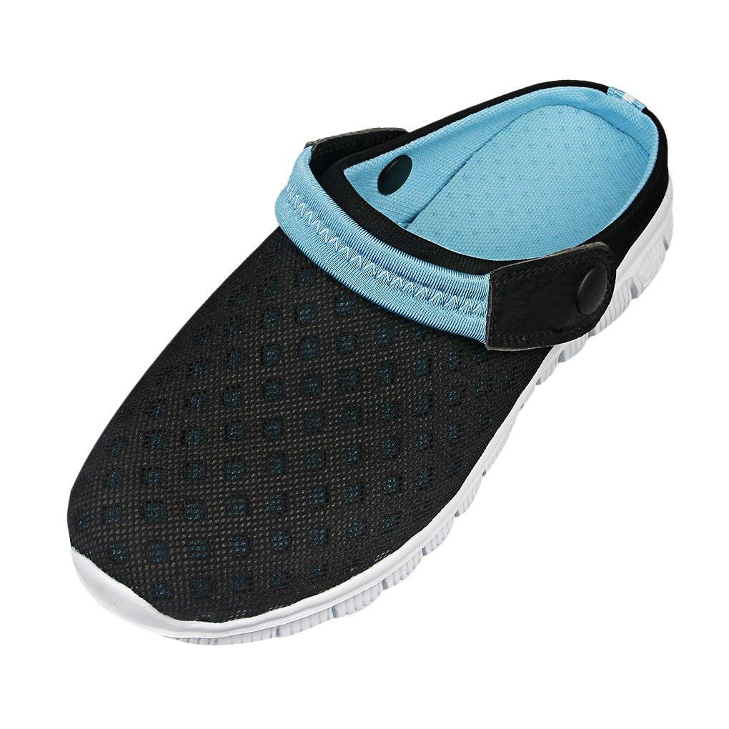 JIAHG Men Summer Slippers Breathable Mesh Net Sandals Beach Anti-Slip Hollow-Out ShoesFlat Sport Travel Sandal OutdoorSlip-on Walking Slippers Footwear